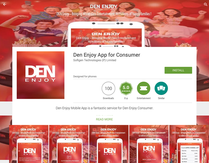 Den Enjoy App for Consumer
